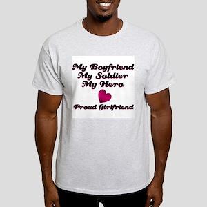 Mu Boyfriend, My Soldier, My  Ash Grey T-Shirt