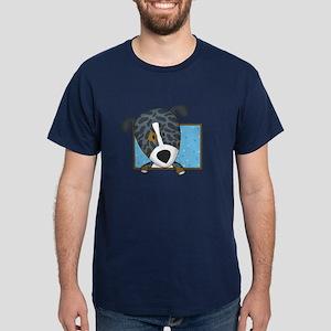Cartoon Catahoula Leopard Dog Dark T-Shirt