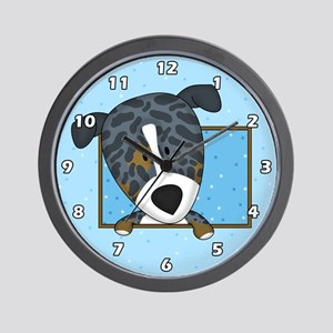 Cartoon Catahoula Leopard Dog Clock