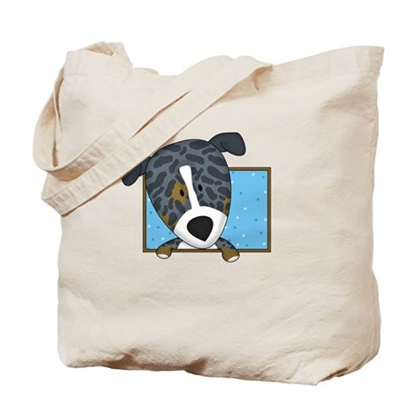 Cartoon Catahoula Leopard Dog Tote Bag