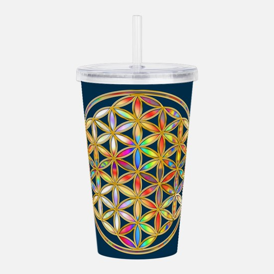Flower Of Life gold co Acrylic Double-wall Tumbler