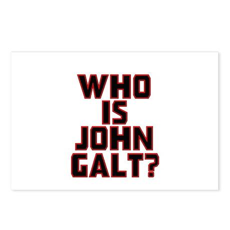 Who Is John Galt Postcards (Package of 8)