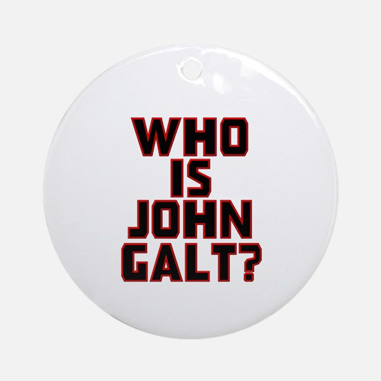 Who Is John Galt Ornament (Round)
