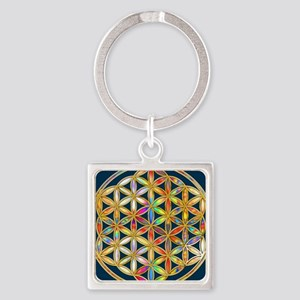 Flower Of Life gold colored II Keychains
