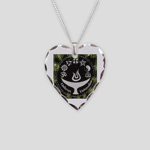 Unitarian Universalist 11 Mer Necklace Heart Charm