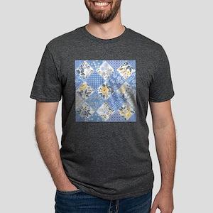 Patchwork Floral Mens Tri-blend T-Shirt