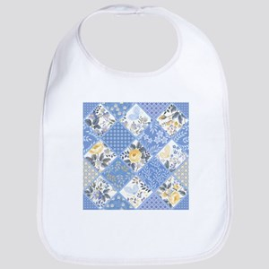 Patchwork Floral Cotton Baby Bib