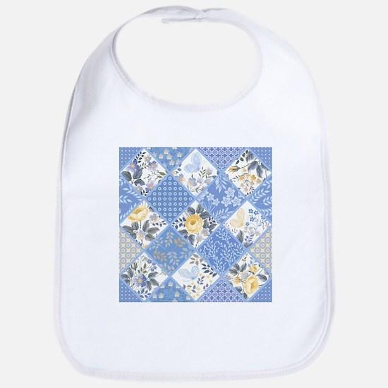 Patchwork Floral Cotton Baby Bib