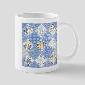 Patchwork Floral 11 oz Ceramic Mug