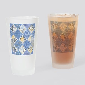 Patchwork Floral Drinking Glass