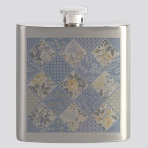 Patchwork Floral Flask