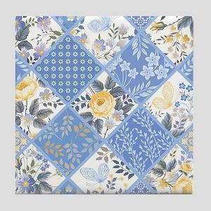 Patchwork Floral Tile Coaster