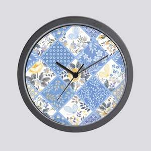 Patchwork Floral Wall Clock