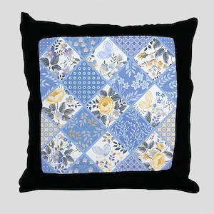 Patchwork Floral Throw Pillow