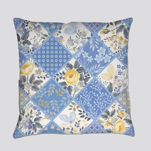 Patchwork Floral Everyday Pillow