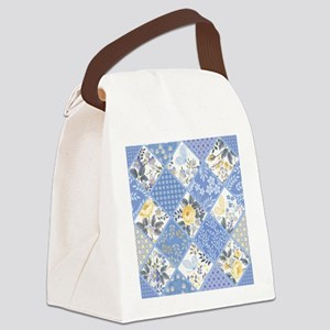 Patchwork Floral Canvas Lunch Bag