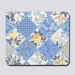 Patchwork Floral Mousepad