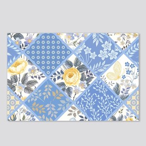 Patchwork Floral Postcards (Package of 8)