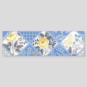 Patchwork Floral Sticker (Bumper)