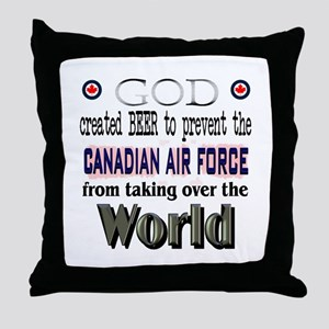 God Beer & the RCAF Throw Pillow