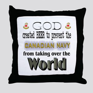 God Beer & the Navy Throw Pillow