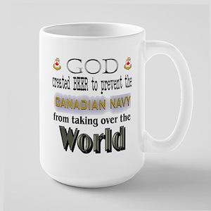 God Beer & the Navy Large Mug
