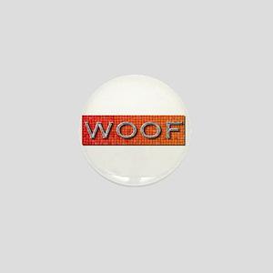 WOOF-ORANGE/GREY Mini Button