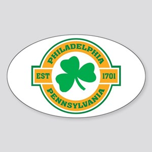 Philadelphia Irish Oval Sticker