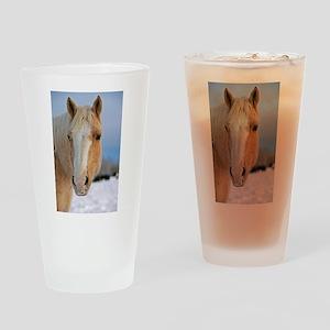Palomino Horse Head Drinking Glass
