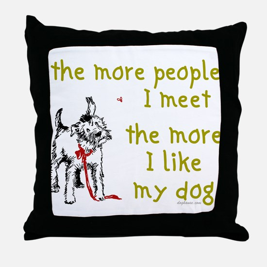 More People (Dog) Throw Pillow