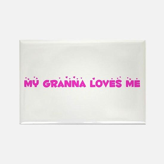 My Granna Loves Me Rectangle Magnet