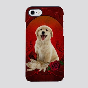 Cute little kitten with dog iPhone 8/7 Tough Case