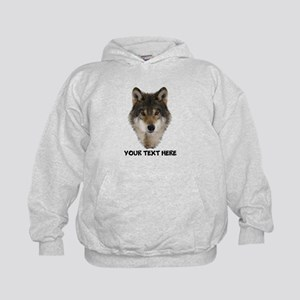 Wolf Personalized Kids Hoodie