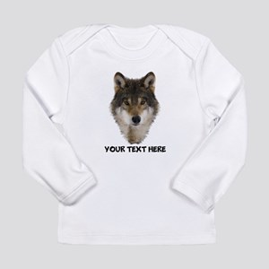 Wolf Personalized Long Sleeve Infant T-Shirt
