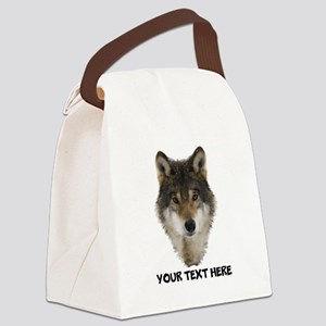 Wolf Personalized Canvas Lunch Bag