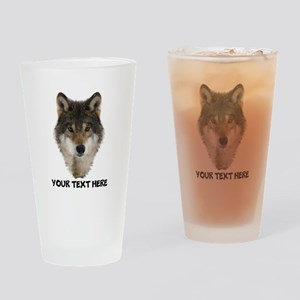Wolf Personalized Drinking Glass