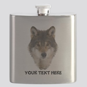 Wolf Personalized Flask