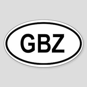 Gibraltar Oval Sticker
