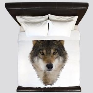 Wolf Personalized King Duvet