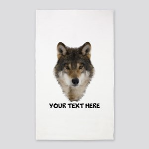 Wolf Personalized Area Rug