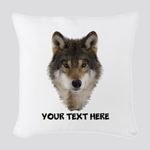 Wolf Personalized Woven Throw Pillow