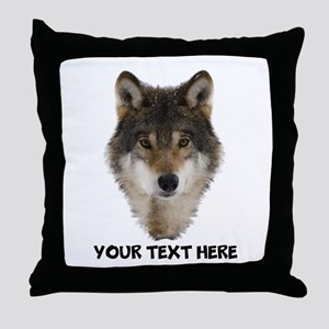 Wolf Personalized Throw Pillow