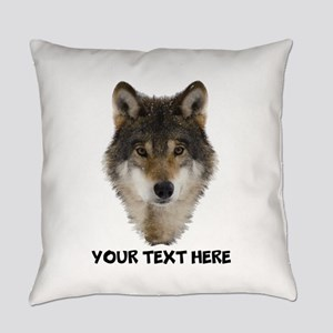 Wolf Personalized Everyday Pillow