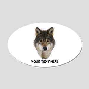 Wolf Personalized 20x12 Oval Wall Decal