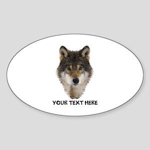 Wolf Personalized Sticker (Oval)