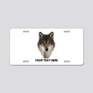 Wolf Personalized Aluminum License Plate