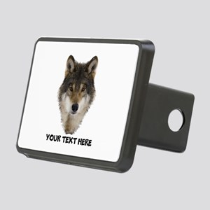 Wolf Personalized Rectangular Hitch Cover