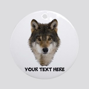 Wolf Personalized Round Ornament