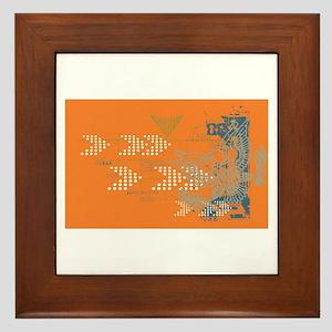 orange eagle Framed Tile