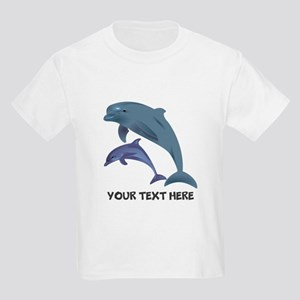 Dolphins Personalized Kids Light T-Shirt